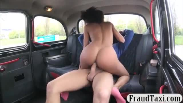 Ebony licked and banged in the backseat